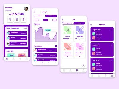 Money Management App interface design ux design ui design banking app money app uiux design