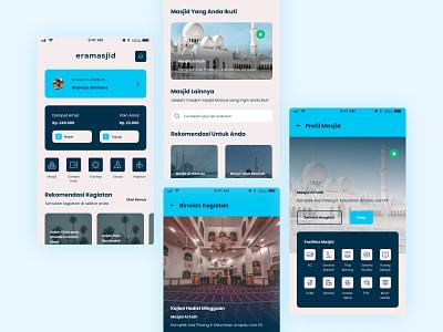 Eramasjid App Redesign mobile app interface design ui design