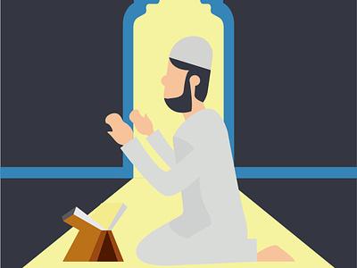 Ramadhan Kareem minimal flat design animation vector graphic design illustration