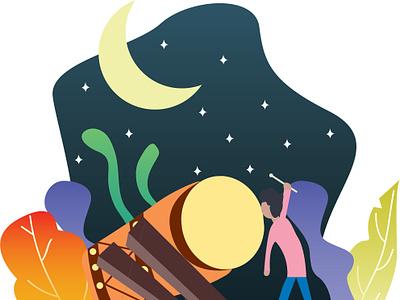 Ramadan illustrator vector web app minimal flat design animation graphic design illustration