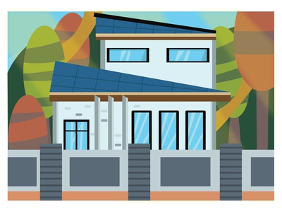 Home Sweet Home vector design animation illustrator minimal flat illustration graphic design
