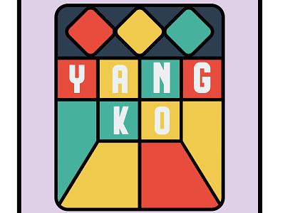 Yangko Card icon illustrator minimal design vector graphic design graphicdesign illustration