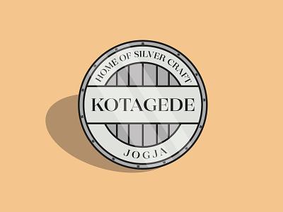 Kotagede Silver icon flat vector minimal graphic design flat design coin design adobe illustrator illustration