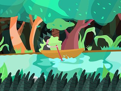 Batang Arau flat design animation illustrator flat design graphic design vector illustration