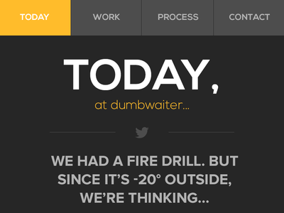 Dumbwaiter Mobile Website