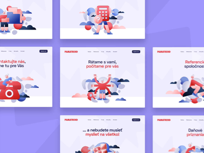 PAMATREND - Hero illustrations flat web app dashboard branding banner hero banner hero product design ui design ux design finance saas b2c ux ui responsive cms visual identity user experience accounting