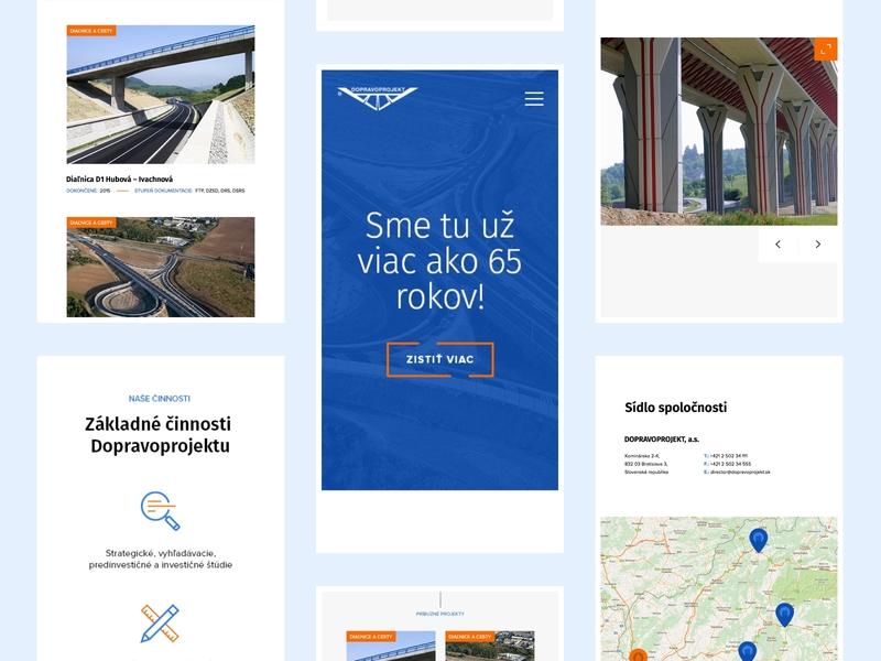 Dopravoprojekt — Responsive mobile dopravoprojekt websites website web vector ux ui typography startup minimal illustration icon gradient flat design branding brand app animation