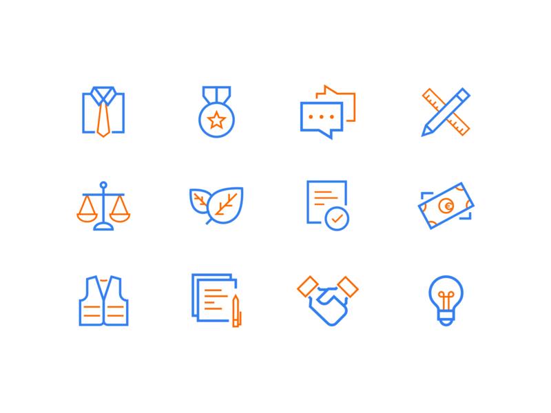 Dopravoprojekt — Icons animation app brand ios illustration branding design line flat madebyblank blank typography icon icons ux ui web website dopravoprojekt mobile
