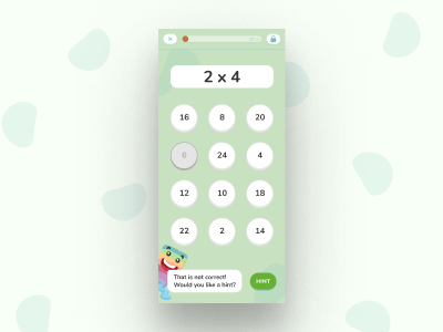 Digital Playground Snippet exercise calculator math mobile education character design app illustration ux ui