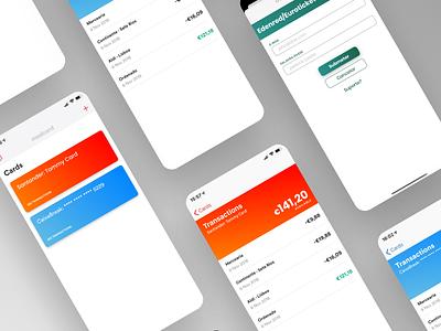 Money balance watcher app screens mobileapp product spendings money balance iphone interface gradient mobile ux ui app