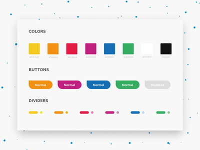 Colourful Styleguide designui marker pallete button userinterface styleguide clean color website ui