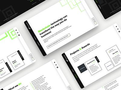 Blocksmith Website minimal website landing neon sidebar green screens layout desktop ux ui blockchain