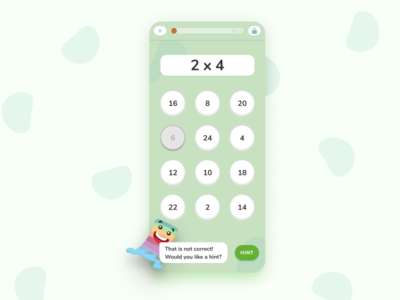 Digital Playground Snippet children ux ui mobile math illustration exercise education design character calculator app