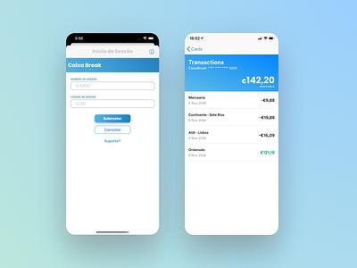 IOS App Screens clean minimal blue gradient product banking screens ios app ux ui