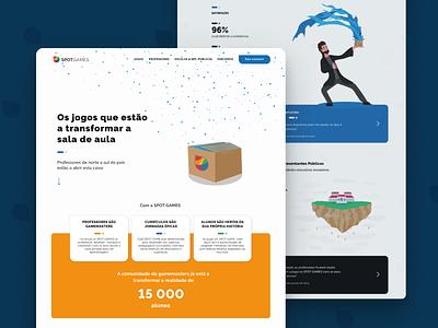 Website Landing Page typography web magic fun box education design ui illustration colors website landing