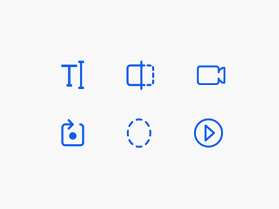 Video Iconset camera photography video mobile round line creative drawing ui app iconset icon