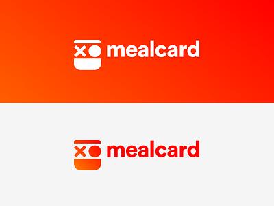 Mealcard Branding yellow orange red gradient minimal ui graphic design design app product drawing branding