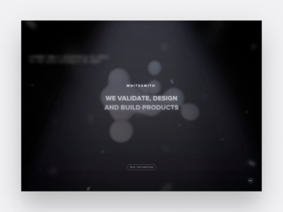 Whitesmith Explained #3 light dark motion blob 3d animation web app ux ui design