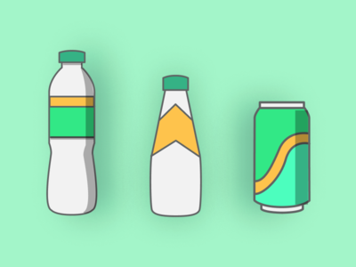 IconSeries #3 – Beverages can bottle green website flat web app icon vector ui design illustration