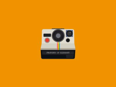 Polaroid polaroid illustration camera art flat vintage