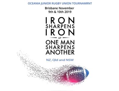 Oceania Junior Rugby Tournament Flyer Design