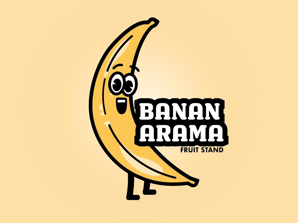 Banana Illustration logo design vector illustration
