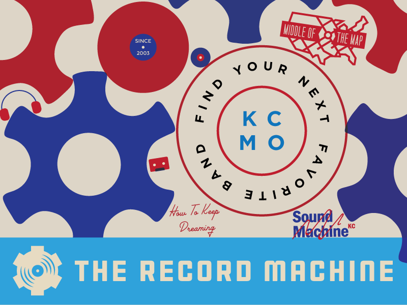 Record Machine Icon Collection middle of the map map cds gears cassettes sound waves headphones vinyl