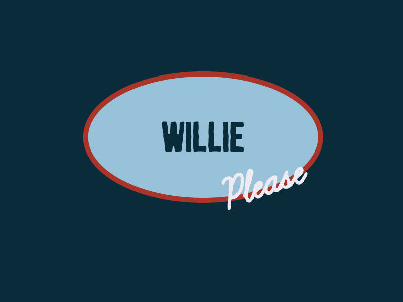 Willie Please Logo patch idea logo