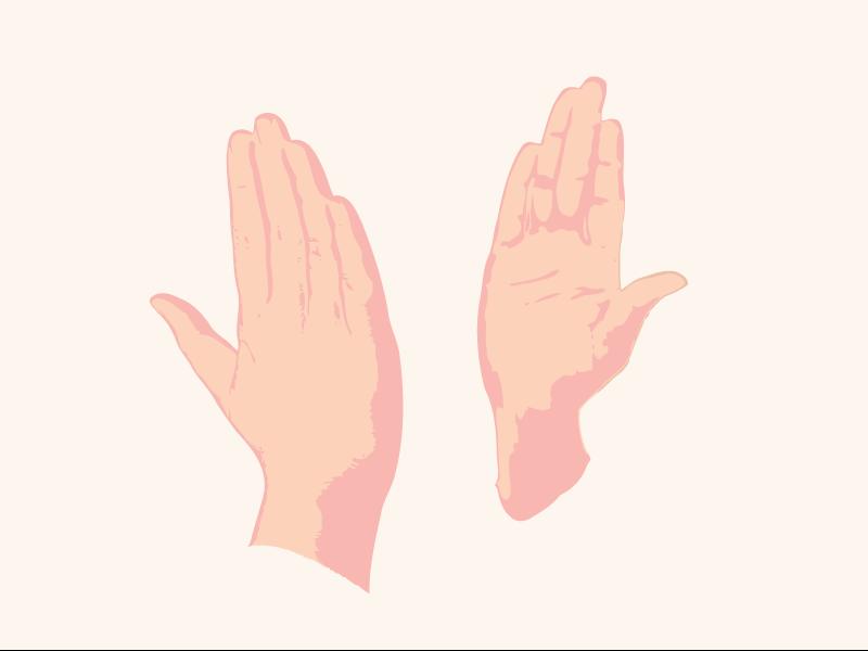 Digital High Five hands high five