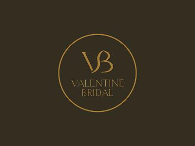 Valentine Bridal Logo circle serif black and gold typography logo typography couture wedding branding logo bridal brand