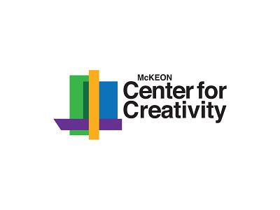 Branding for McKeon Center for Creativity helvetica identity building college school bold bright vector design branding icon brand typography logo type treatment typography logo architecture