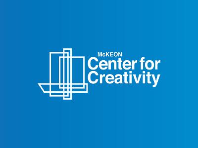 Branding for McKeon Center for Creativity bold bright vector illustration typography logo typography type treatment brand designer helvetica blue design branding logo design logo