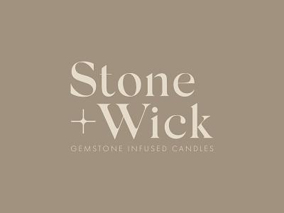 Stone + Wick Branding brown cream minimalist modern clean muted retail serif design brand branding typography logo logo type treatment typography