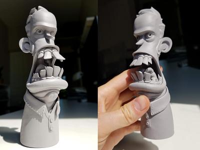 3D Print: Big Mouth bust sculpture 3d print 3d cartoon design character