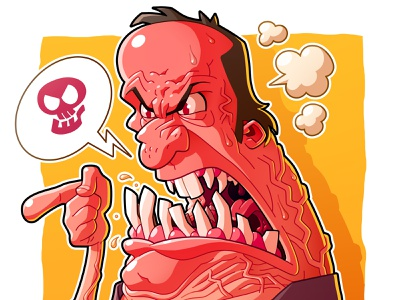 Anger 2020 drawing yellow mad face red illustraion illustrator cartoon character man angry rage