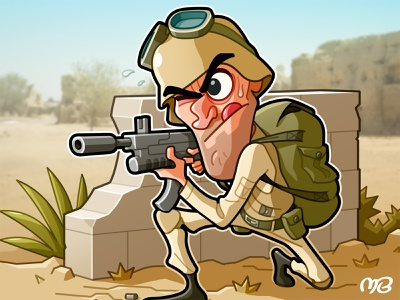 Board Game: General - 1 packaging military board game game army drawing illustration cartoon design character card