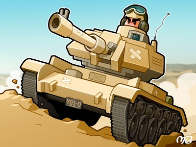 Board Game: General - 4 soldier military army board game game packaging drawing illustration cartoon design character