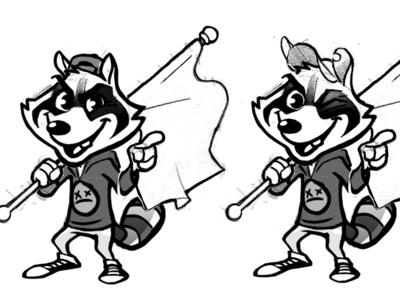 Simple Plan - Raccoon Design (Sketches 02)