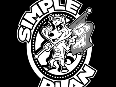 Simple Plan - Raccoon Design (crest 01)