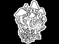 Shrooming Skull - Ink