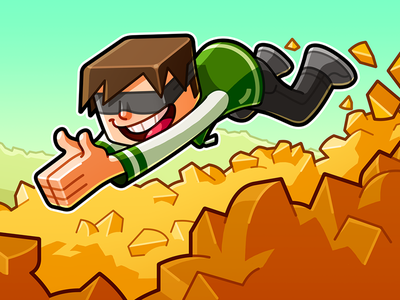 Youtube Channel Banner: FavreMySabre diving cheeze gaming gamer youtuber cartoon character minecraft banner