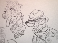 Random Sketches: Weird guys Heads