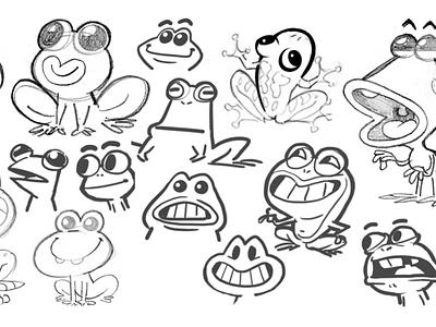 Flipover Frog - Frog Designs character drawing illustration cartoon sketch character design design game frog board game