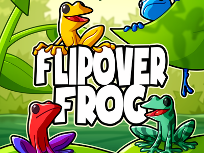 Flipover Frog - Cover plant jungle frog vector game drawing green illustration cartoon design character board game