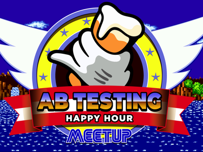 AB Testing Happy Hour Banner - Sonic The Hedgehog video game sonic the hedgehog banner vector illustration
