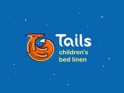 Tails 2 logotype logo logodesign fox night bed