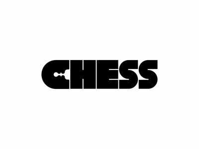 CHESS logoconcept negativespace logo chess c
