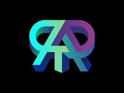 RART letters skull symbol 3d monogram logo monogram augmentedreality art
