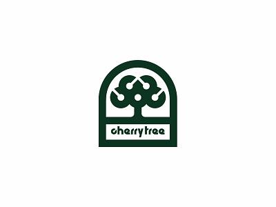cherry tree juice garden berry tree logo minimalism c cherry