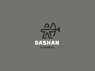 dashan plumbers logo plumber bow